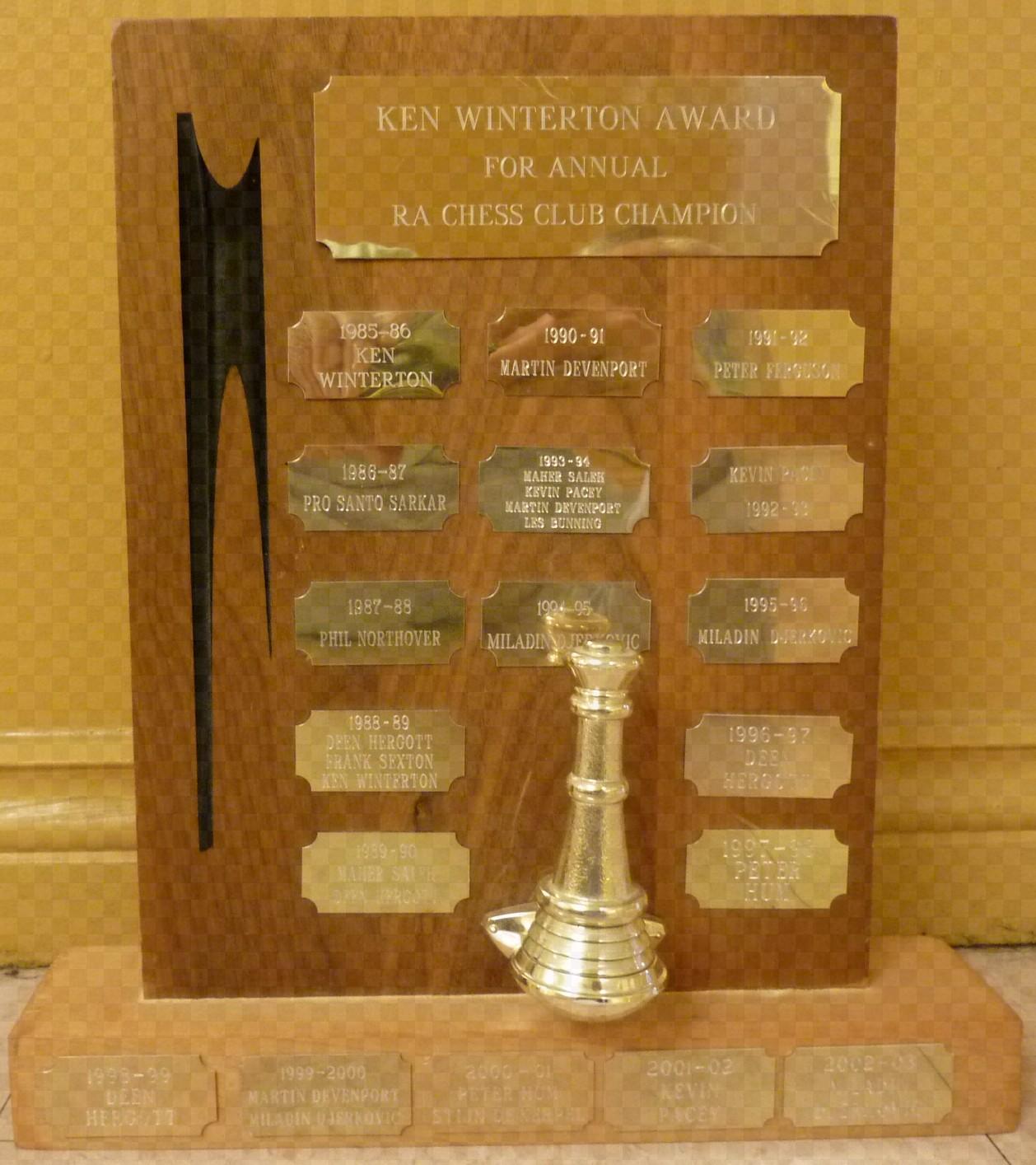 Ken Winterton Award