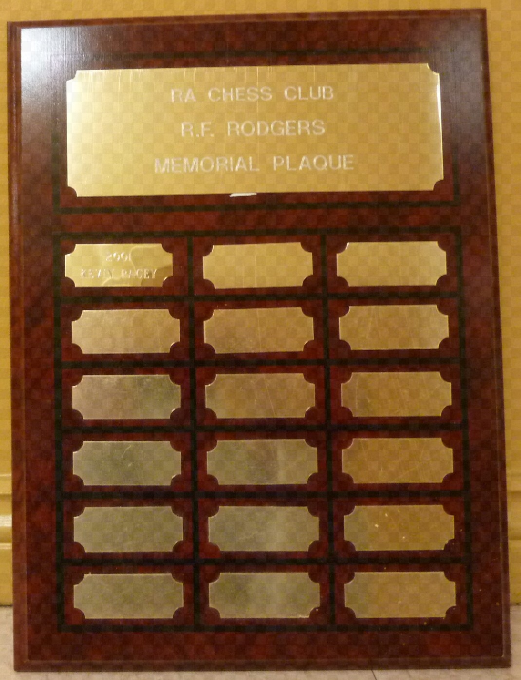 R.F. Rodgers Plaque